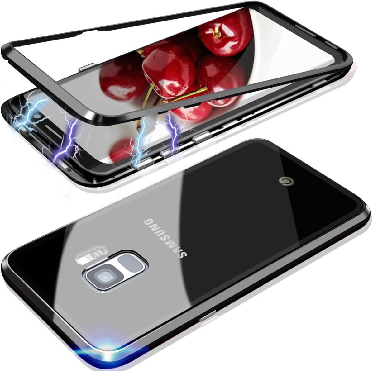Coque pour Samsung Galaxy S9 Plus magnétique,étui rigide en ...