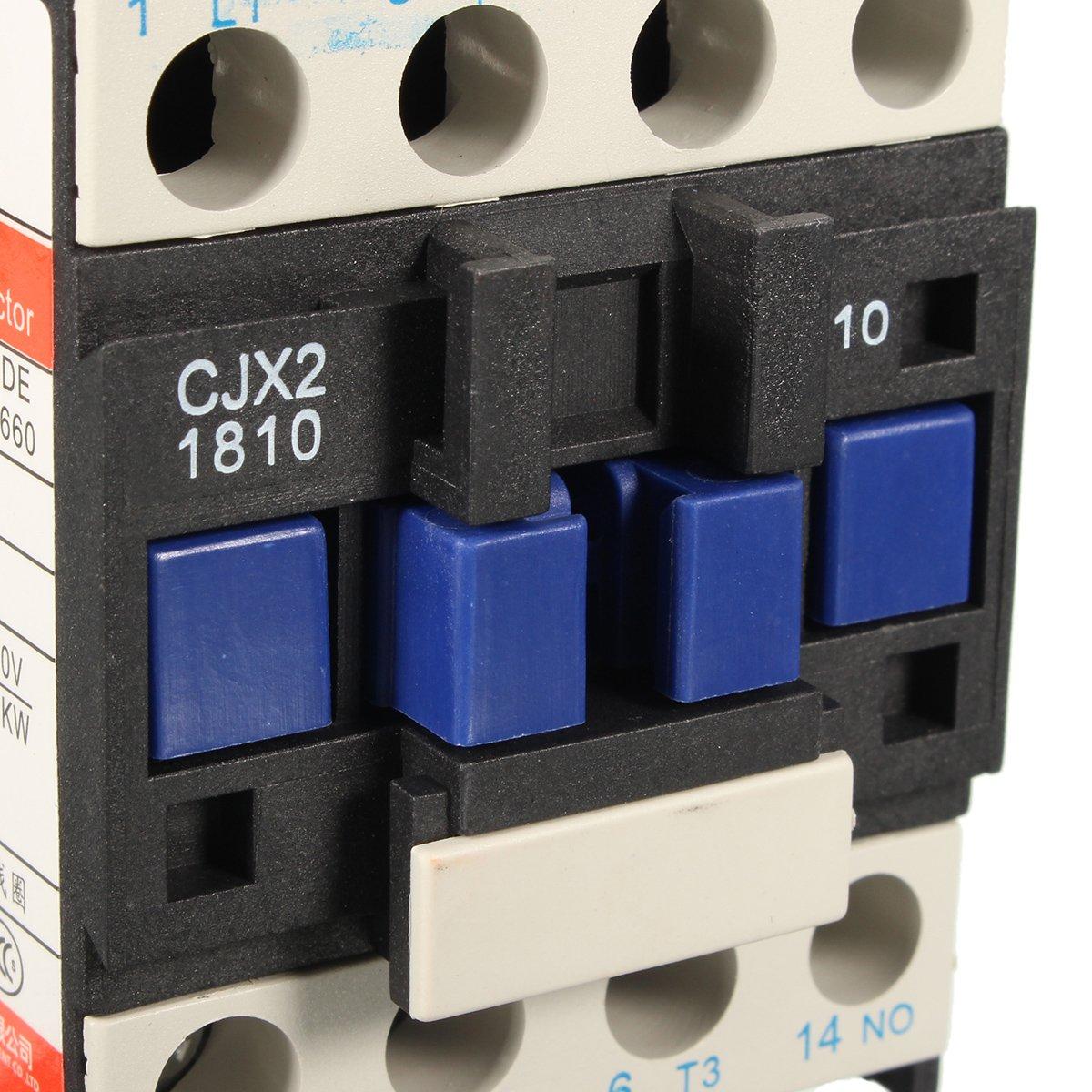 MASUNN Ac Contactor Ac220V Bobina 32A Trif/ásica 1No 50//60Hz Motor De Arranque Rel/é Lc1 D1810