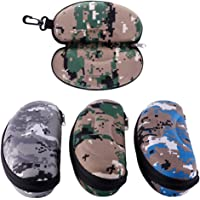 Niome Waterproof Portable Large EVA Zipper with Hook Clasp Eyeglass Sunglass Case Holder Box Camouflage