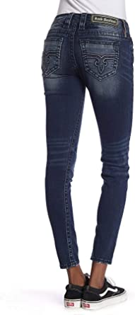Amazon Com Rock Revival Jeans Julee De Altura Media Para Mujer Clothing