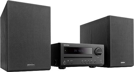 Denon D-T1 - Microcadena con Lector CD y Bluetooth, Color Negro