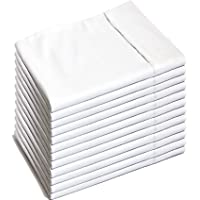 Glarea Pillow Cases 12 Pack ( Queen White) - Brushed Microfiber Pillowcases for Allergy Control & Blissful Sleep
