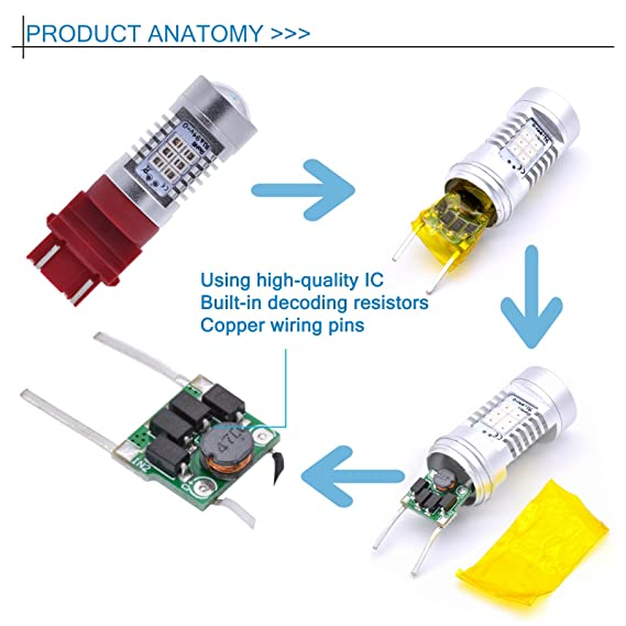 Amazon Tuincyn 3157 3157ck 3156 Led Turn Signal Light Bulbs Red