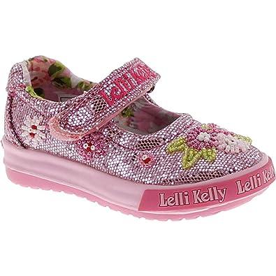 b5838b090fd1e Amazon.com | Lelli Kelly Kids Girls Lk4056 Fashion Mary Jane Flats Shoes,  Pink Glitter, 21 | Flats