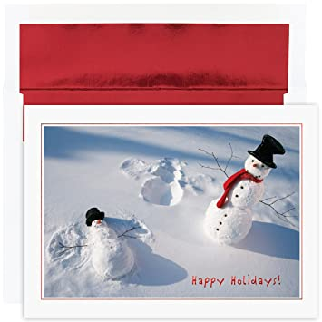 Amazon great papers holiday greeting card snowman angels 18 holiday greeting card snowman angels 18 cards18 envelopes m4hsunfo