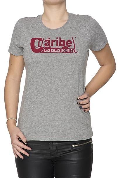 Las Islas Bonitas Mujer Camiseta Cuello Redondo Gris Manga Corta Tamaño S Womens T-Shirt