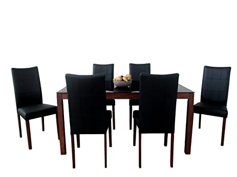 Great Midtown Concept Christine Mid Century 7Piece Living Room Dining Set,  Espresso