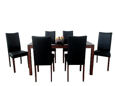 Great Midtown Concept Christine Mid Century 7Piece Living Room Dining Set,  Espresso