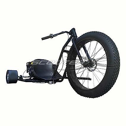 Motorized Drift Trike 6 5 HP 40 MPH - BLACK Wheel [534]