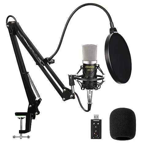 Aokeo AK-70 Professional Studio Live Stream Broadcasting Recording  Condenser Microphone With AK-35 e0e16dca0ffd6