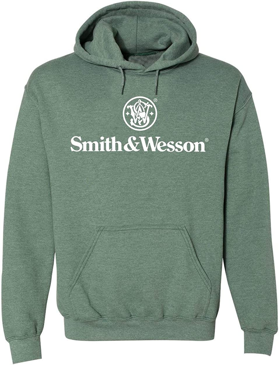 S/&W Traditional Logo Pullover Hoodie in Antique Harvest Officially Licensed