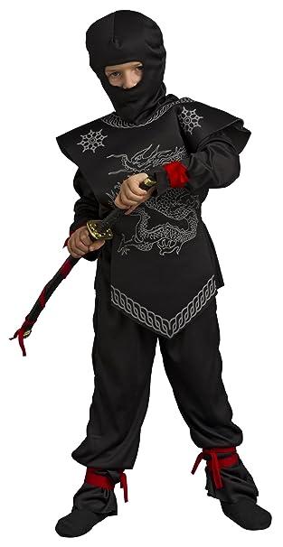 Amazon.com: Disfraz Disfraz de ninja con katana para niños ...