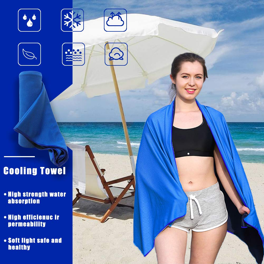 Backpacking Camping 75X40 Ultra Light Sports Beach Ideal Fast Drying Towels for Travel and Swimming XINGLT Microfiber Beach Towel Large /& Oversized Gym Fast Drying and Absorbent
