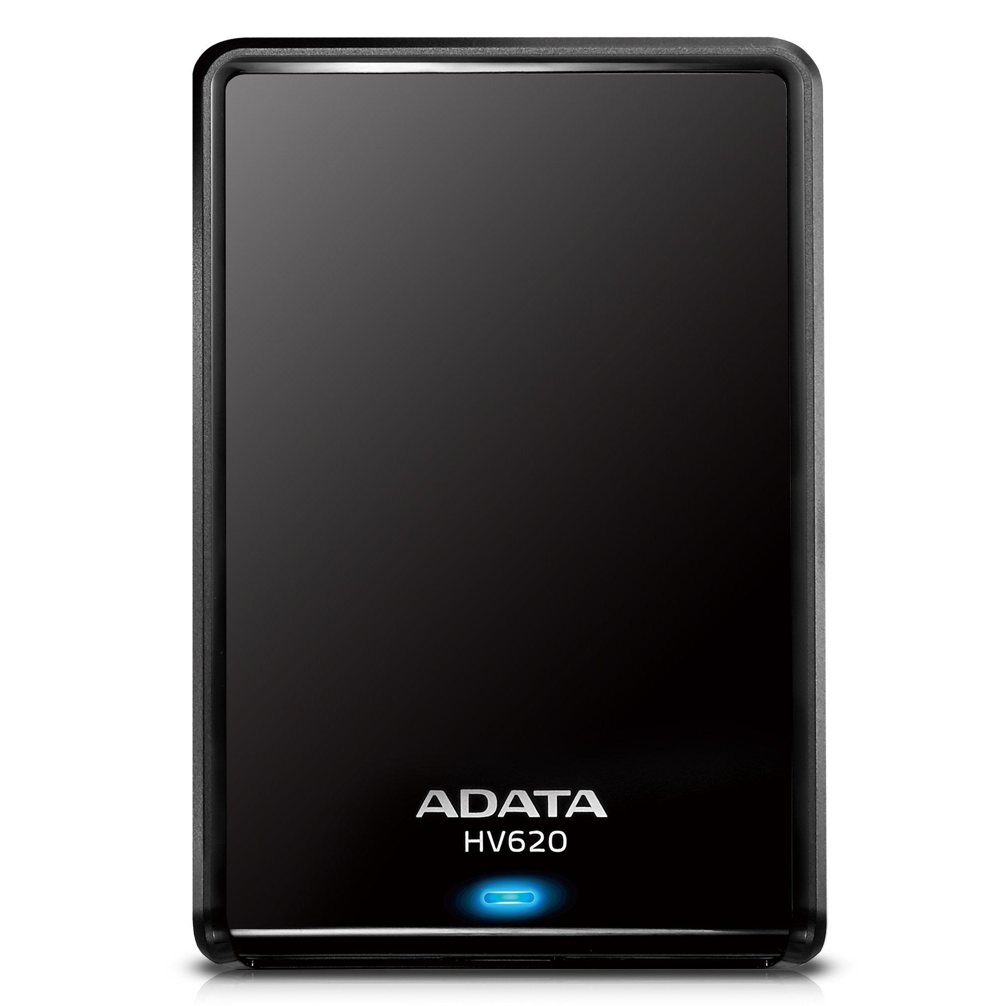 ADATA HV620 1TB USB 3.0 Stylish and Sleek External Hard Drive, Black (AHV620-1TU3-CBK)