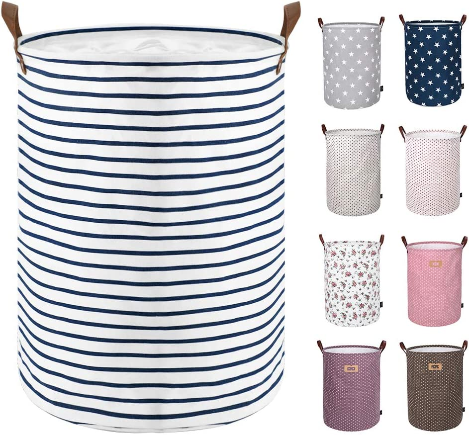 Available 17.7 /& 19.7 Height NEW POWER Collapsible Laundry Baskets Large,Eco Foldable Dirty Clothes Stand Storage Hampers,Waterproof Round Inner Drawstring Clothing Bins -Bohemia C,M.