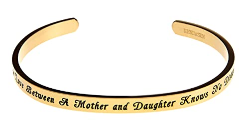 The Love Between Mother and Daughter Knows No Distance Remember I Love You Daughter Cuff Bracelet nOHeJEVi