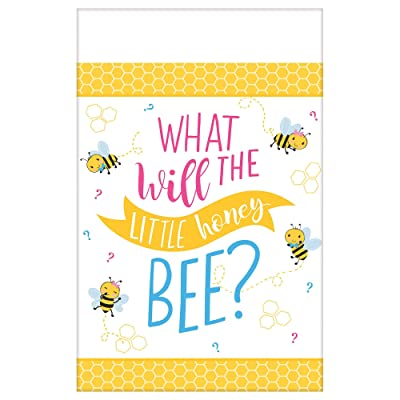amscan 572166 1.37m x 2.43m-1 Pc, Tablecover Paper What Will It Bee: Toys & Games