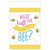 Amscan International 572166 Plastic Tableware, Tablecover Paper What Will It Bee