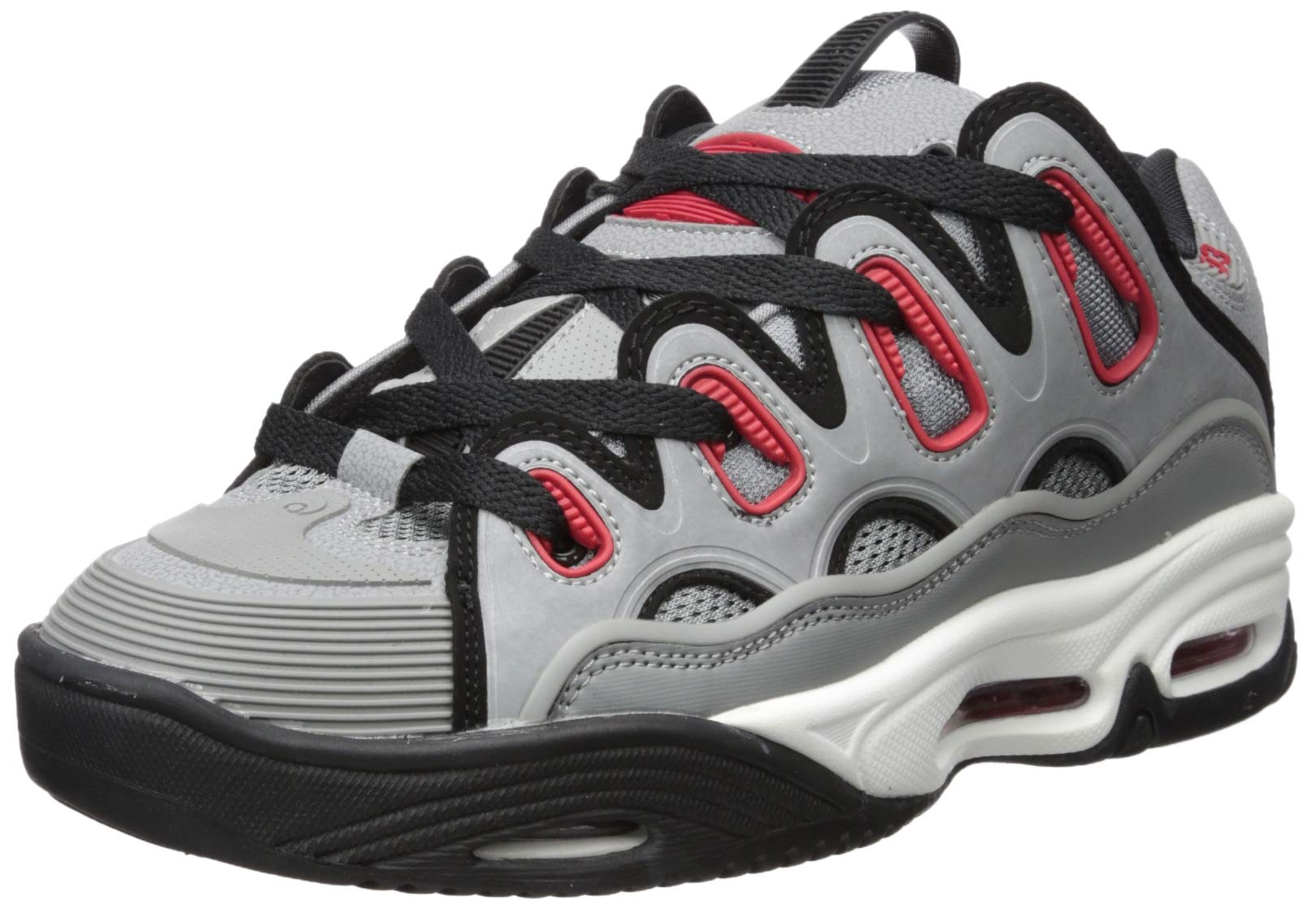 c651b491474479 Galleon - Osiris Men's D3 2001 Skate Shoe, Grey/red/Black, 10.5 M US