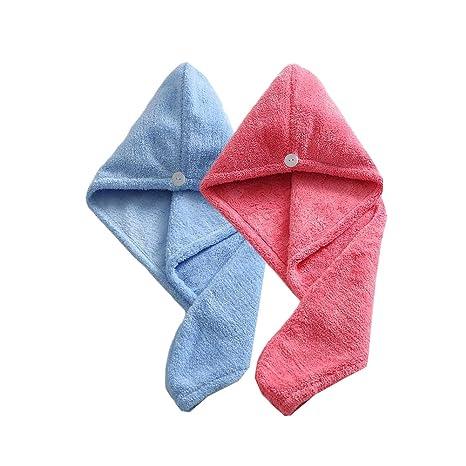 Sombreros de secado de pelo de las mujeres, toallas de baño de torcedura suave super