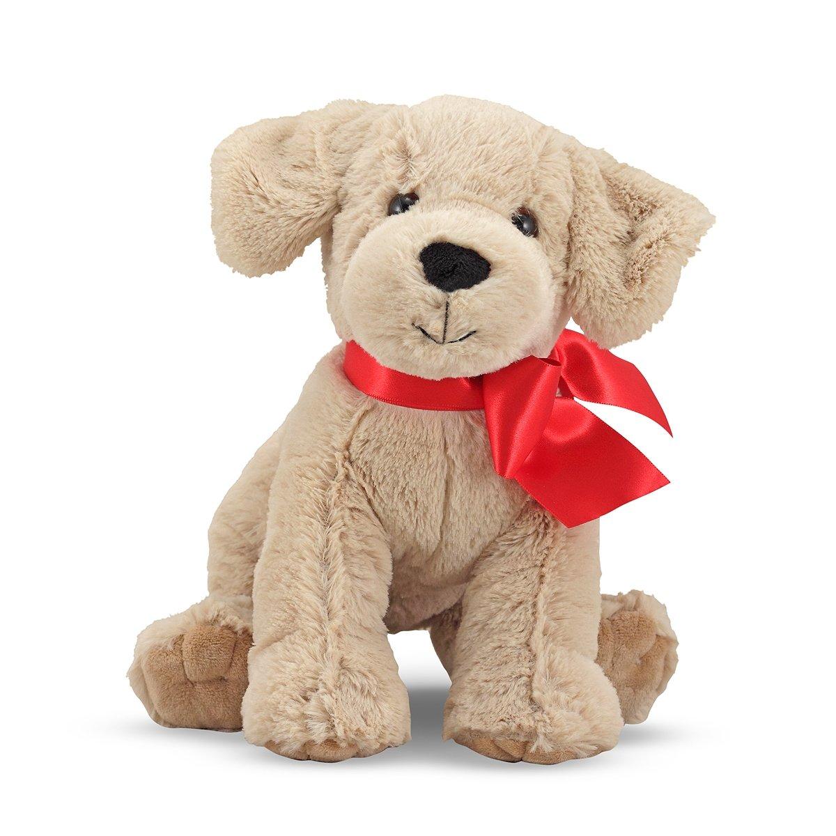 Amazon Com Melissa Doug 7480 Stuffed Yellow Lab Puppy Doll