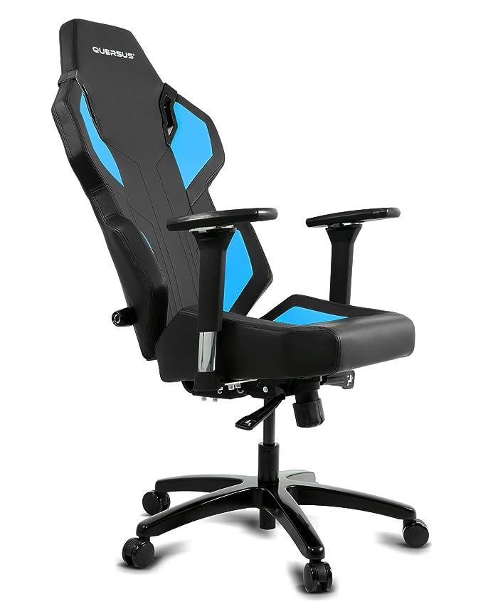 quersus Evos 302 Asiento Gamer sintética Cuie, Negro Azul, S-L: Amazon.es: Juguetes y juegos