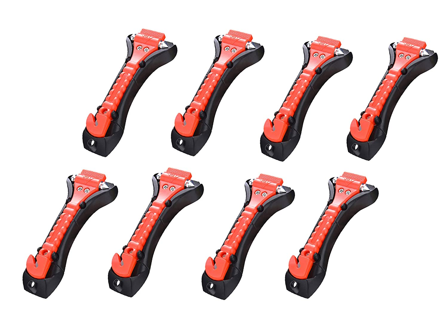 Life Saving Survival Kit 8-Pack KAFEEK Safety Hammer Emergency Escape Tool with Car Window Breaker and Seat Belt Cutter