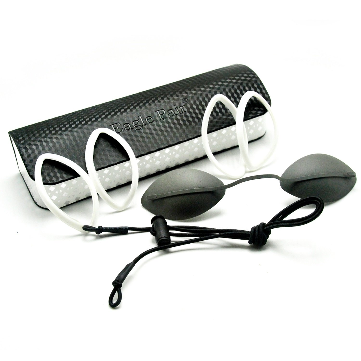 2pcs IPL Protection Eyepatch for Clinic Beauty Laser OD7+ Safety Goggles Stainless Steel Metal