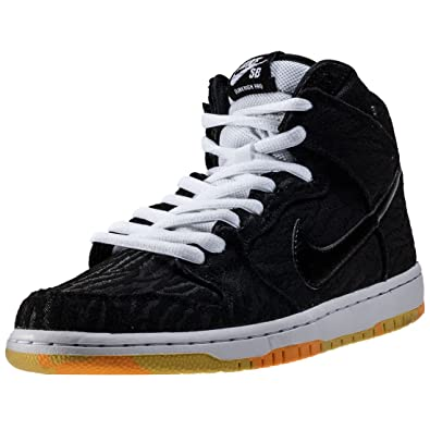 huge discount 54b93 7963c Nike Dunk High Pro SB Mens Skateboarding-Shoes 305050-034 5.5 - Black Black- White-Laser Orange  Buy Online at Low Prices in India - Amazon.in