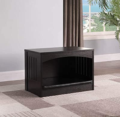 eHomeProducts Large Size Pet Dog Kennel Crate Slate Design Side End Table Nightstand Cat Dog House Kennel Cage