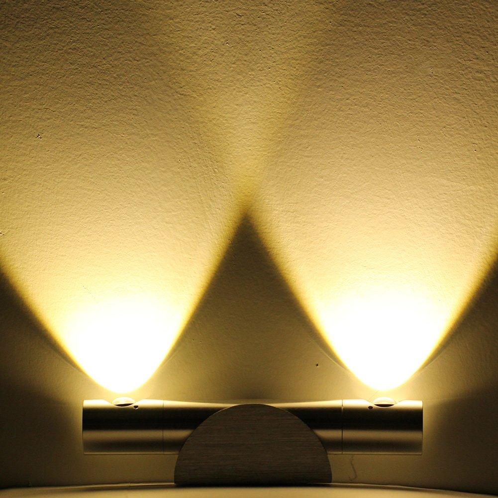 GHB Lampada da parete a LED 6W, Lampada Moderna da parete ...