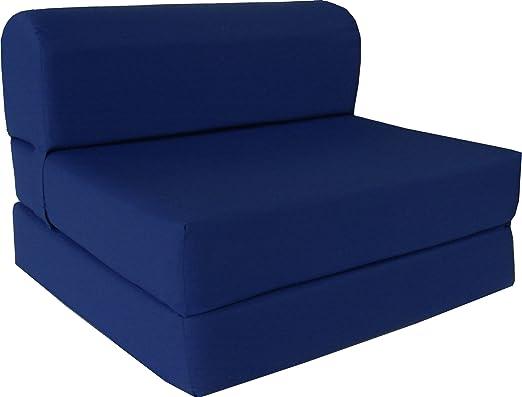 Amazon Com D D Futon Furniture Navy Sleeper Chair Folding Foam