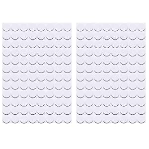 ZXUEZHENG Self-Adhesive Screw Hole Stickers,2-Table 96 in 1 Self-Adhesive Screw Covers Caps Dustproof Sticker 15mm White