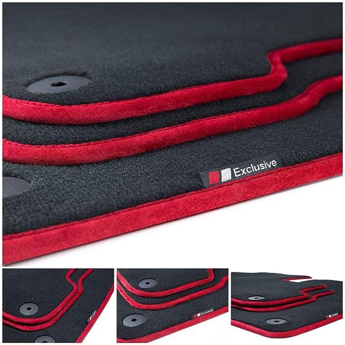 Tuning Art Lx359 Luxury Line Velours Fußmatten Bandeinfassung Rot Auto