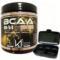 BCAA 8:1:1 200 compresse K1 Nutrition Integratore di Aminoacidi Ramificati 811 con Vitamina b1 e b6 Advanced Leucine Formula - GLUTEN FREE - SENZA LATTOSIO - NON OGM - OFFERTA PORTAPILLOLE INCLUSO
