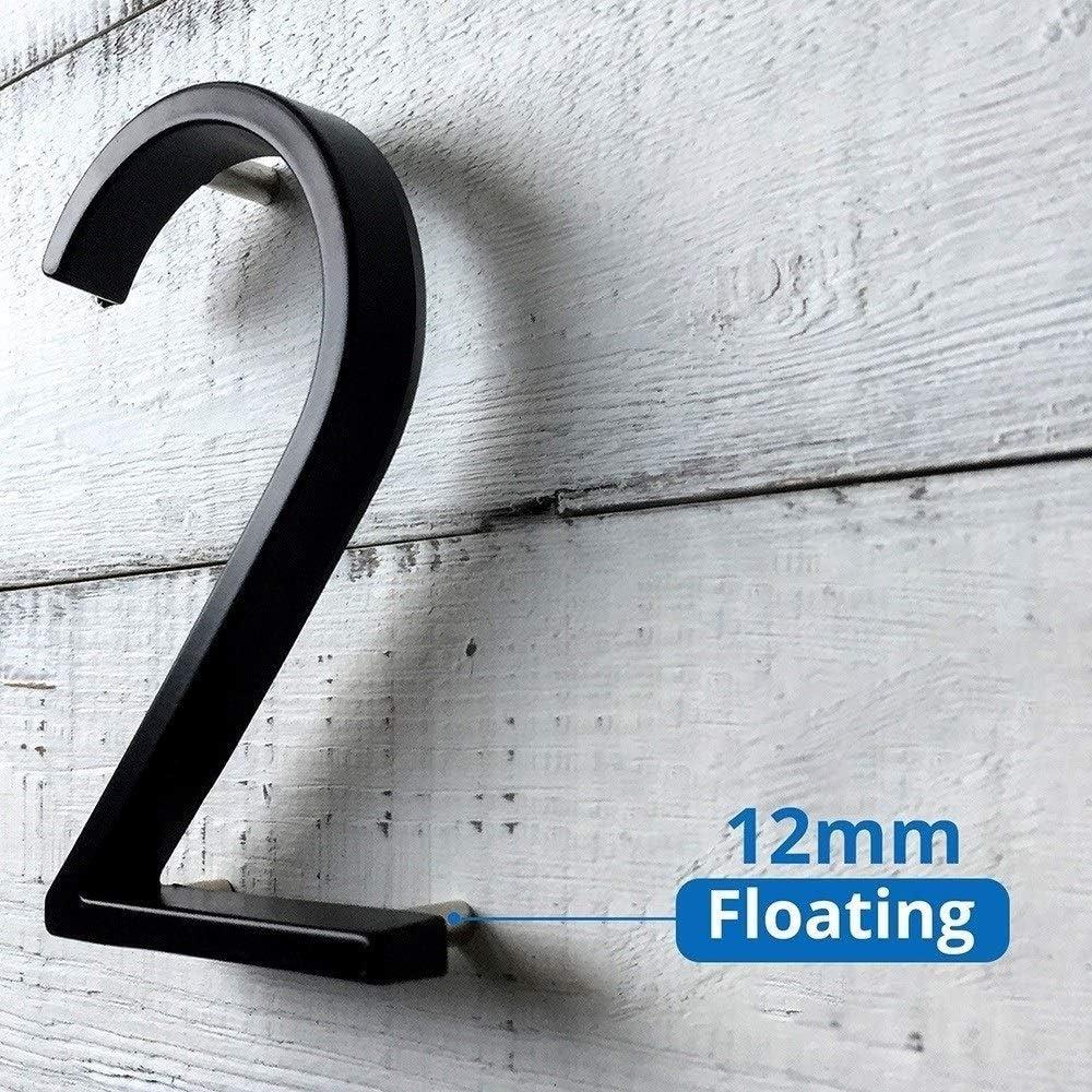 Color : 4 Big Modern House Number H/ôtel Home Porte Nombre dext/érieur Adresse Plaque en Alliage de Zinc num/éro for Maison Cadeau # Adresse Signe 9 Digital House Number