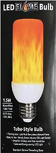 EZ-Illuminations Tube-Style LED Flame Bulb - 1.5W Warm White