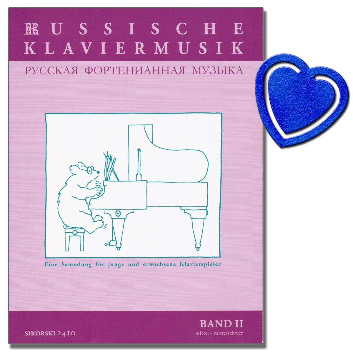 Russische Klaviermusik Band 2 - Eine Sammlung für junge und erwachsene Klavierspieler - Klavier Noten mit herzförmiger Notenklammer Verlag Sikorski Hans