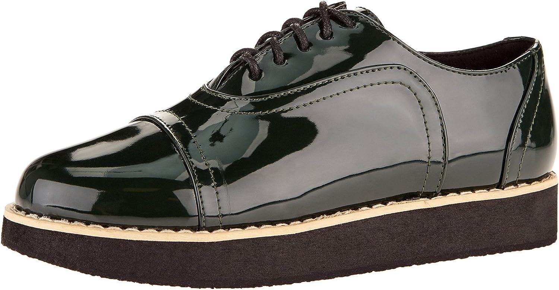 oodji Collection Mujer Zapatos Tipo Oxford de Piel Sintética