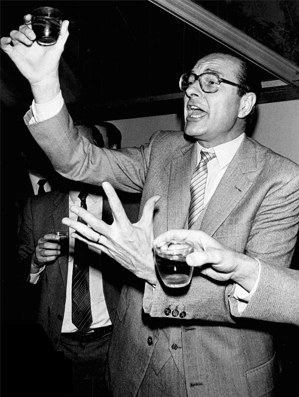 Fabulous Poster Affiche Jacques Chirac Vintage Toast Boit de lAlcool President France