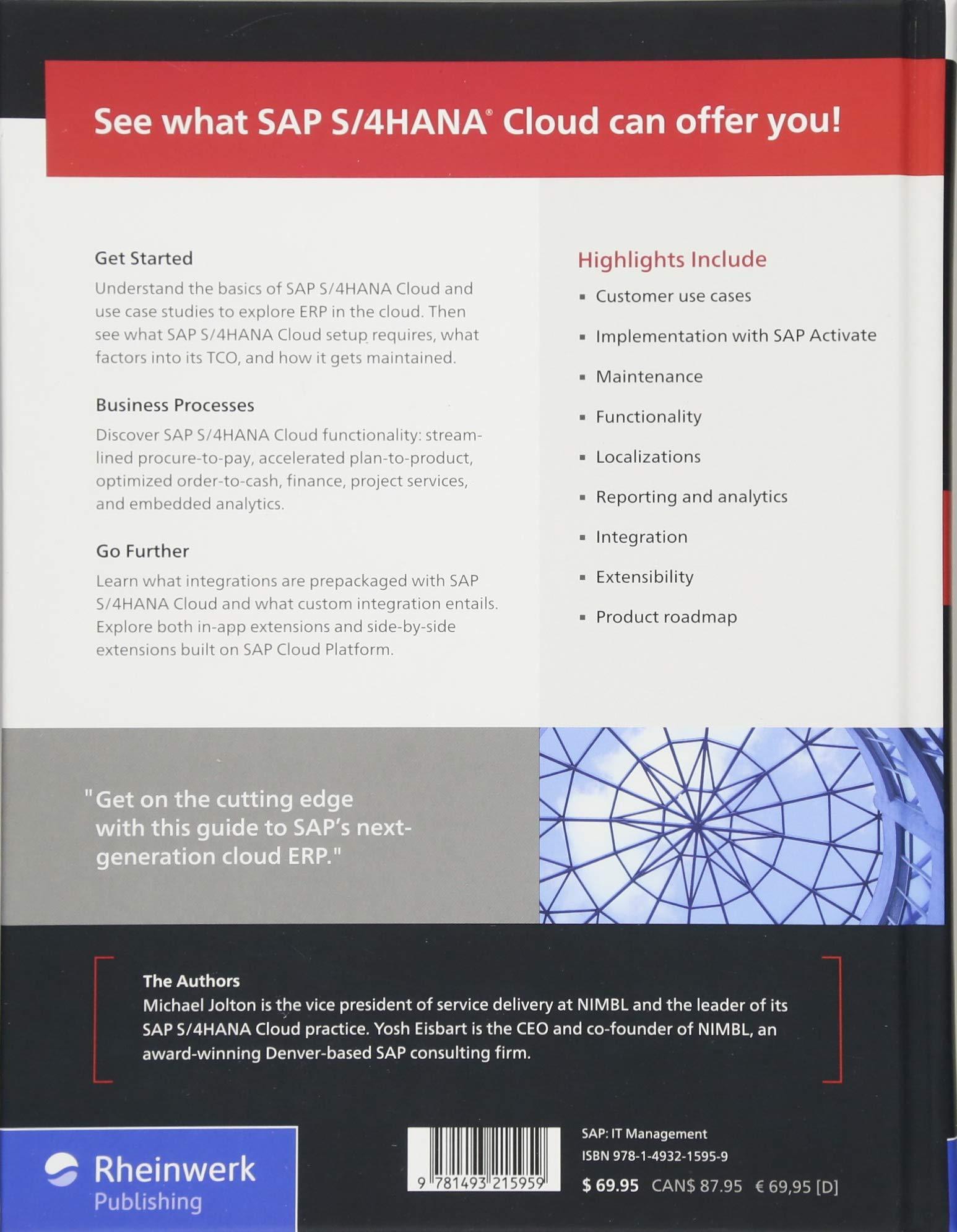 Amazon com: SAP S/4HANA Cloud: Use Cases, Functionality, and