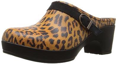 crocs Sarah Graphic Clog, Damen Clogs, Mehrfarbig (Leopard 90L), 38/39 EU (6 Damen UK)