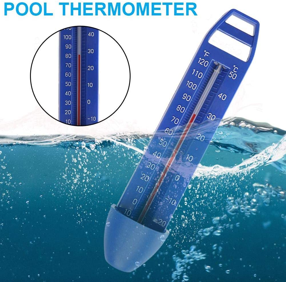 Integrated Pocket Shatter Resistant for Outdoor /& Indoor Swimming Pools Spas Floating Pool Thermometer Premium Water Floating Temperature Thermometers with String Easy to Quick Read Hot Tubs