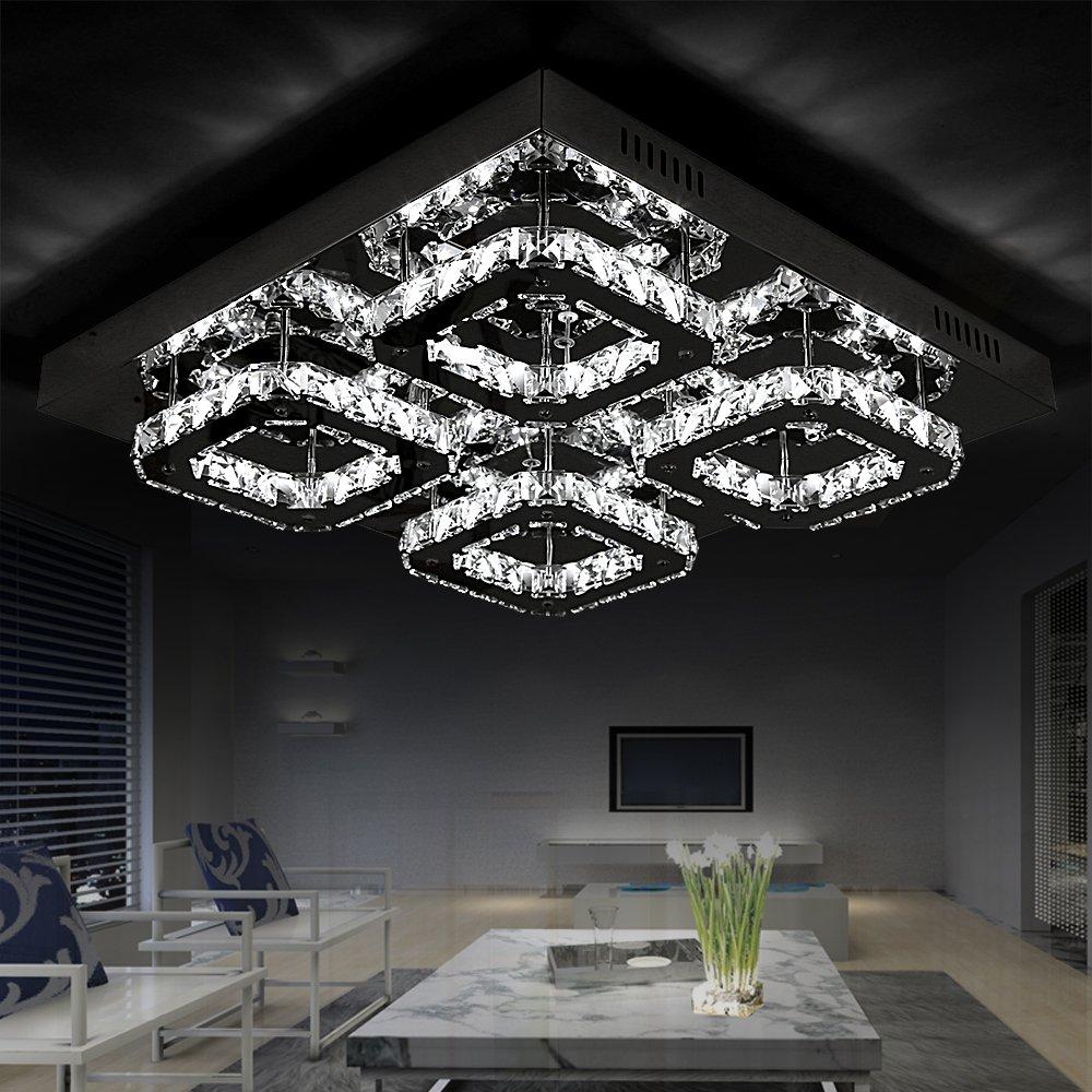 Style Home® Kristal LED Deckenlampe Deckenleuchte Wandlampe 32W 6813 4C  Dimmbar Mit Fernbedienung: Amazon.de: Beleuchtung
