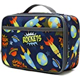 Kids Lunch box Insulated Soft Bag Mini Cooler Back to School Thermal Meal Tote Kit for Girls, Boys,Women,Men by FlowFly,Outer