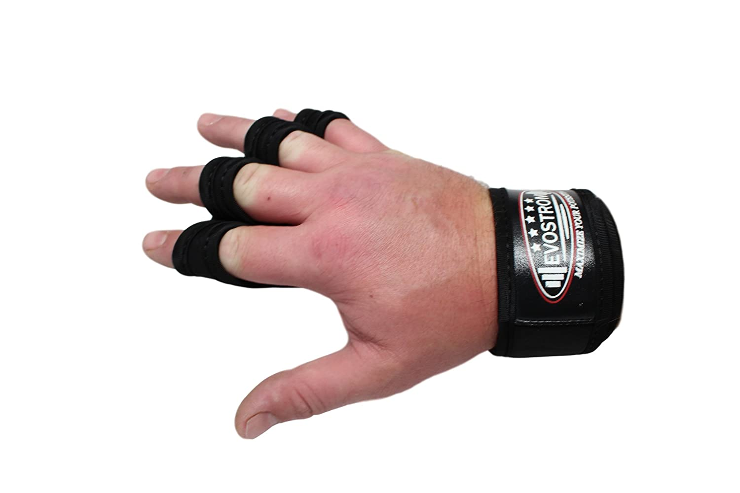 EVOSTROM Cross Training Gloves with Wrist Support for Fitness Strong Grip Suits both Men /& Women Gym Workout /& Powerlifting Silicone Padding to avoid Calluses 1 pair Weightlifting