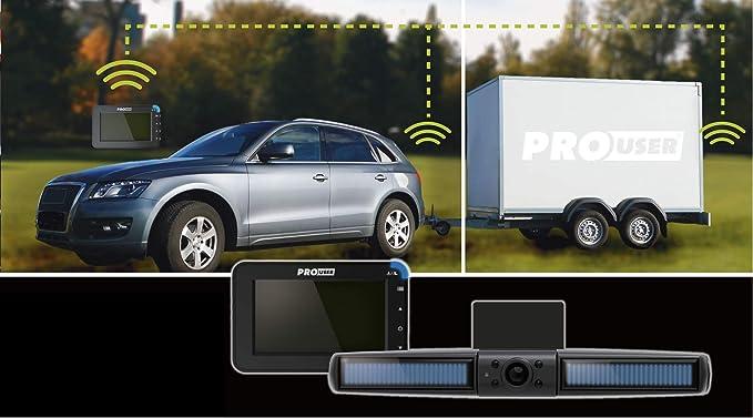 Pro User Sistema de cámara de marcha atrás solar DRC4310 Solar: cámara de marcha atrás inalámbrica digital con pantalla LCD (monitor de 4,3 pulgadas) ...