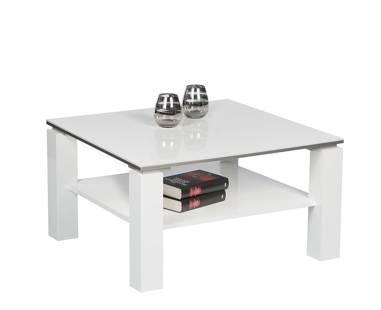 Stella Trading Romy Mini Couchtisch, Holz, weiß, 75 75 75 x 75 x 41 cm ec85b5