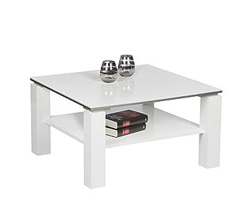 Beistelltisch Hochglanz Weiß, Wohnzimmertisch Couchtisch Romy Tisch