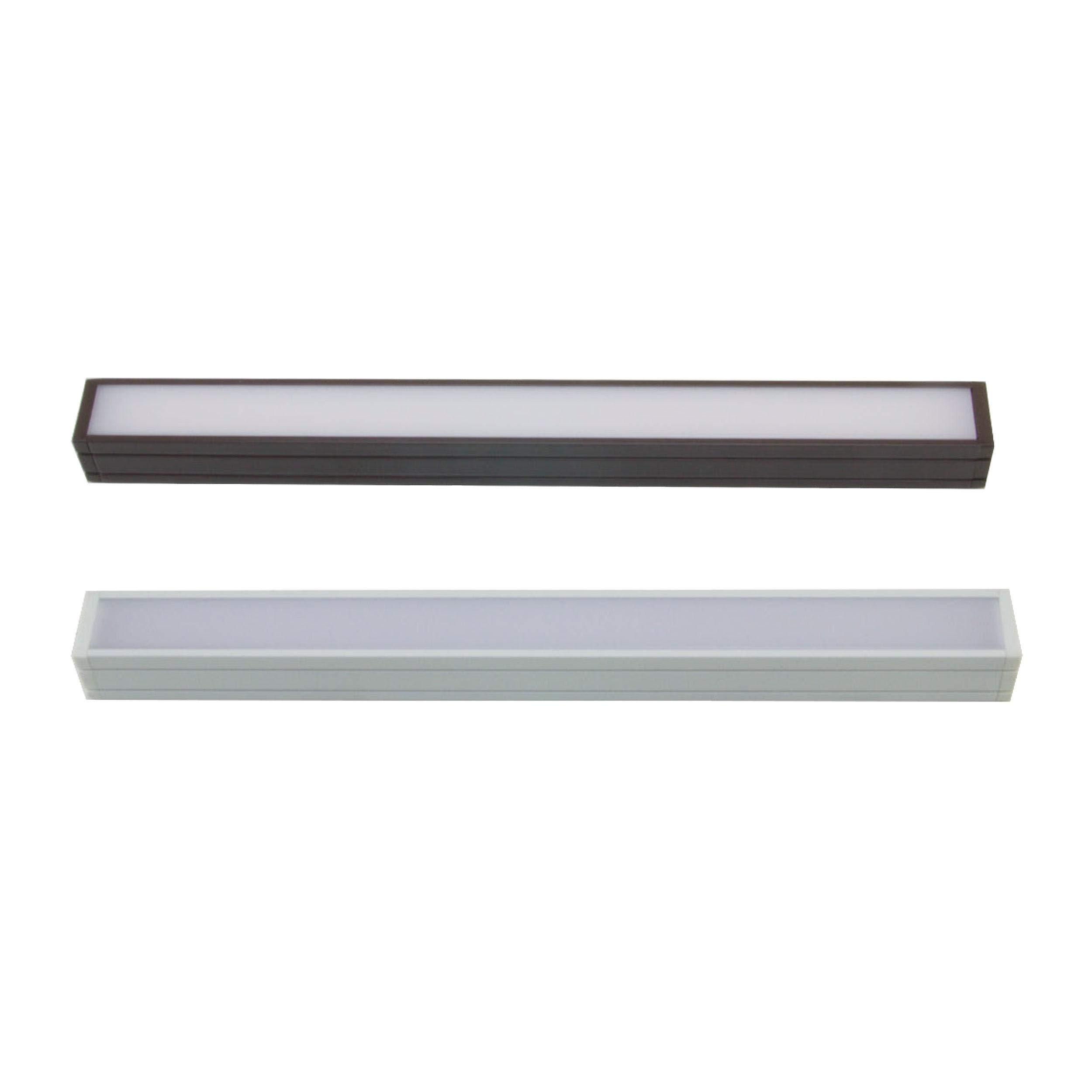 Diode LED Fencer Series FOIL 2 Premium Diffusion Fixture 120V 3000K 90 CRI Dark Bronze 12 in
